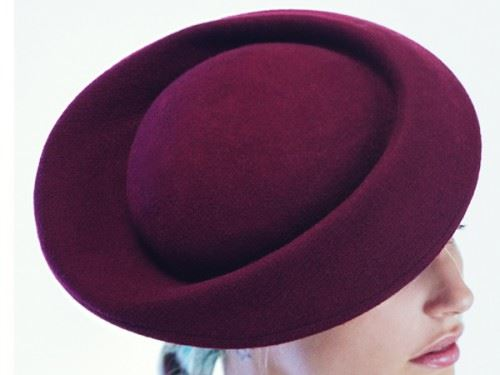 felt fascinator, cocktail hat, womens felt hat