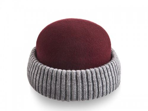 knitted felt hat , winter hat for men