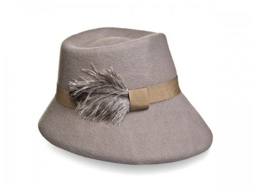 felt fedora hat, hat with feather