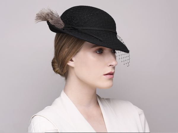 26be2aa87ce fashionable hat, cocktail hat, black hat