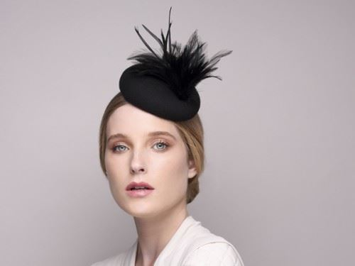 felt fascinator, black hats and fascinator