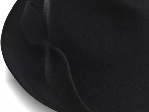 hat designer, justine hats, black hat