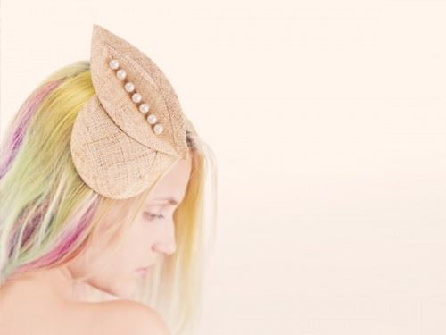 straw haedpiece, wedding head piece